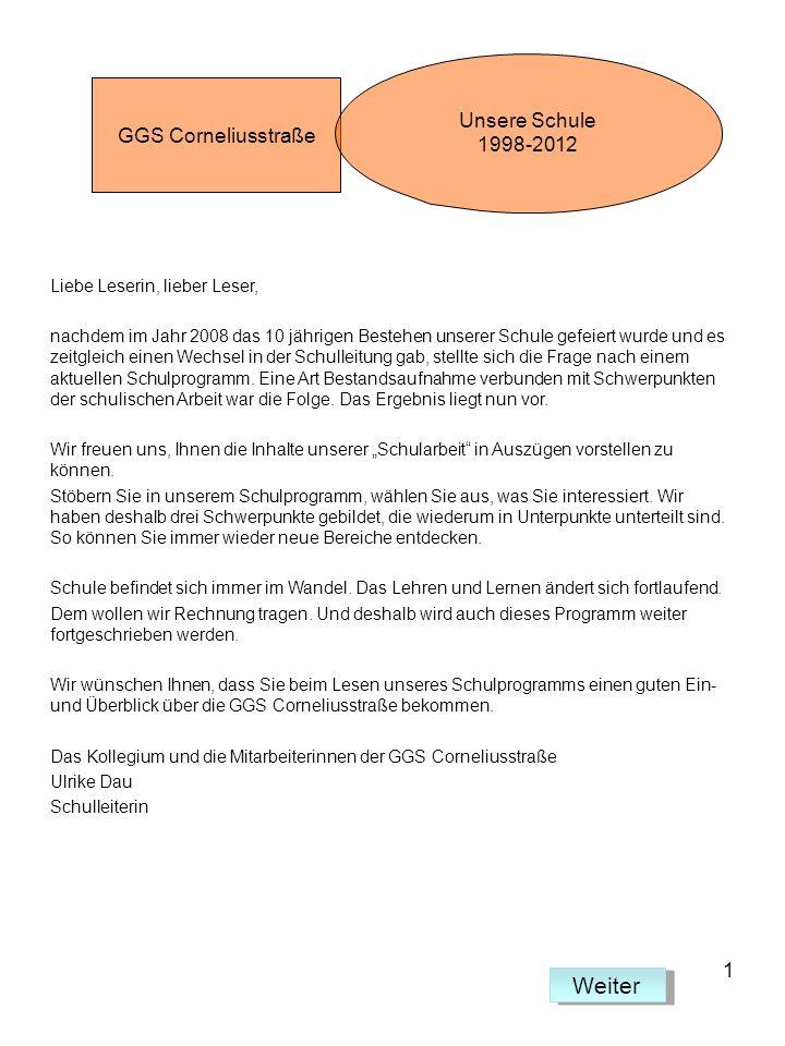 Weiter Unsere Schule 1998-2012 GGS Corneliusstraße 1