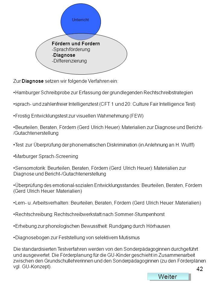 Weiter 42 Fördern und Fordern Sprachförderung Diagnose Differenzierung