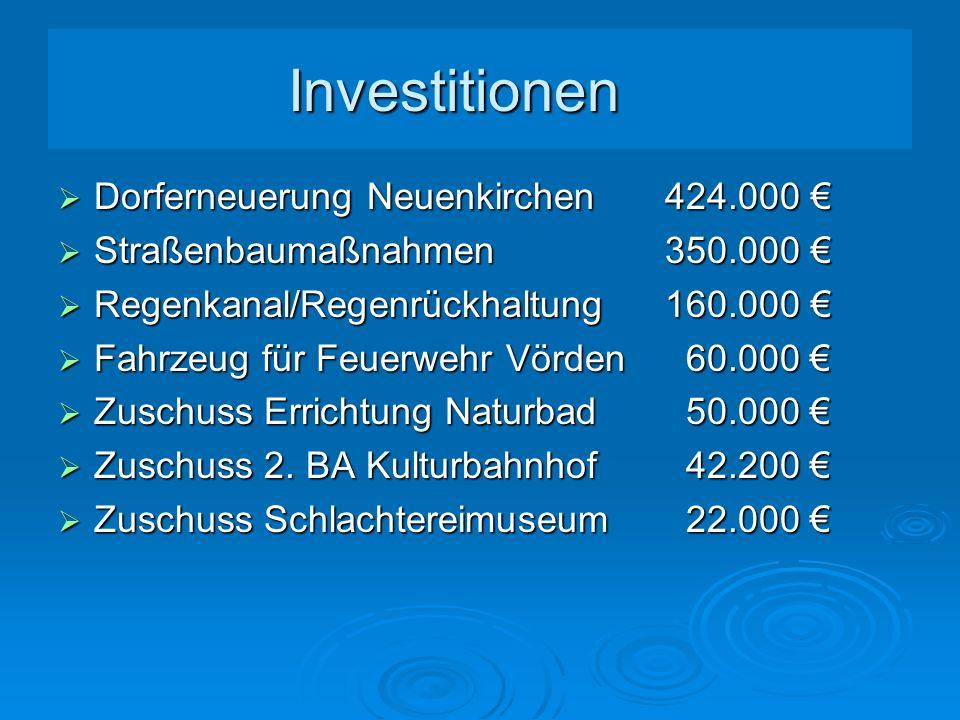 Investitionen Dorferneuerung Neuenkirchen 424.000 €