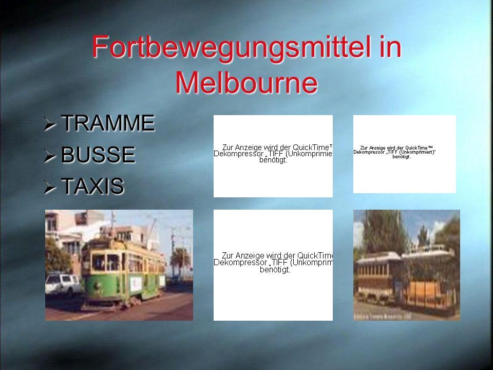 Fortbewegungsmittel in Melbourne
