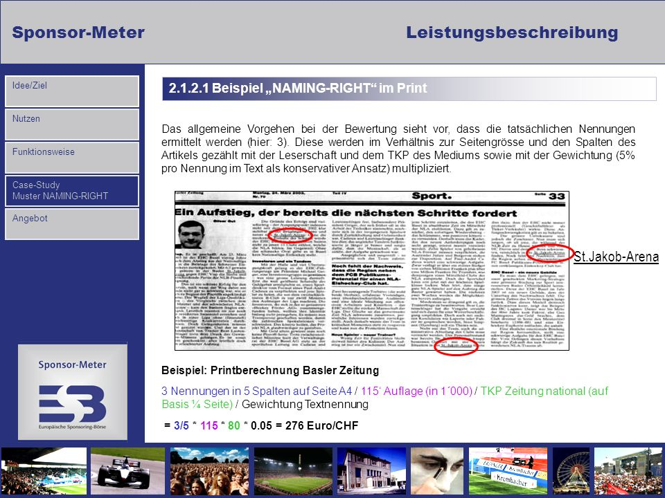 "2.1.2.1 Beispiel ""NAMING-RIGHT im Print"