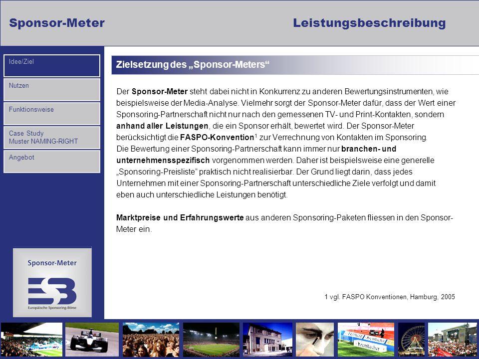 """Zielsetzung des """"Sponsor-Meters"""