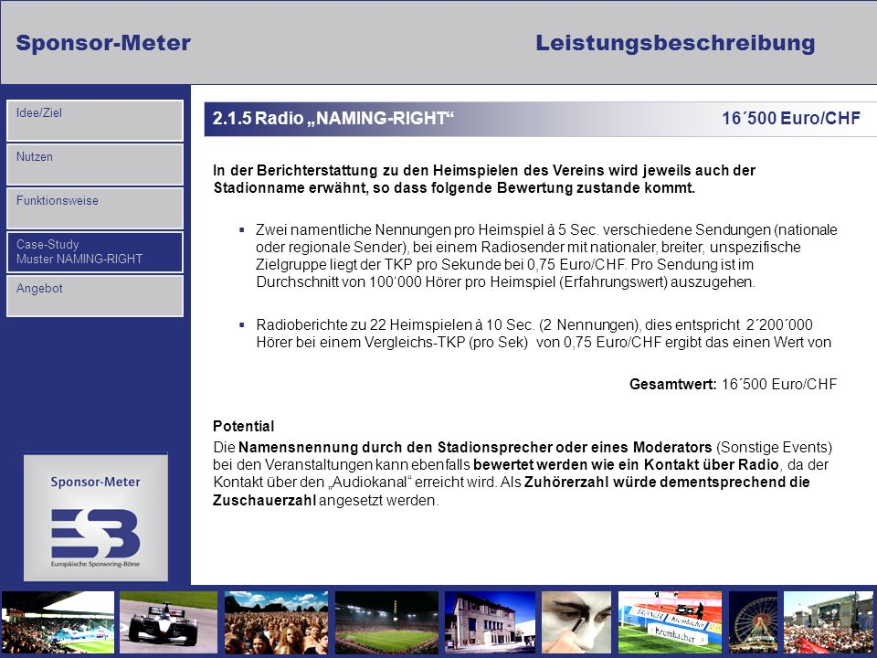 "2.1.5 Radio ""NAMING-RIGHT 16´500 Euro/CHF"