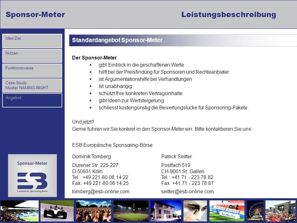 Standardangebot Sponsor-Meter