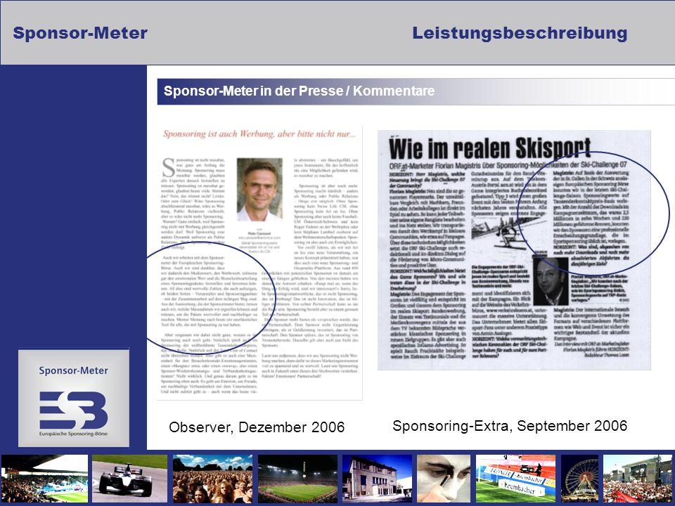 Sponsor-Meter in der Presse / Kommentare