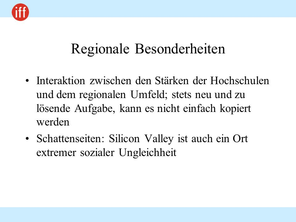 Regionale Besonderheiten