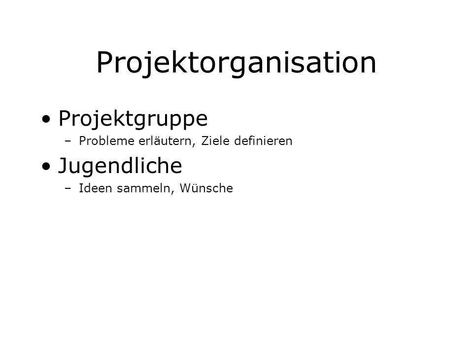 Projektorganisation Projektgruppe Jugendliche