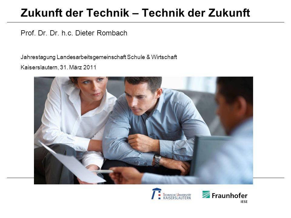 AGENDA Fraunhofer-Kontext Zukunft der Technik