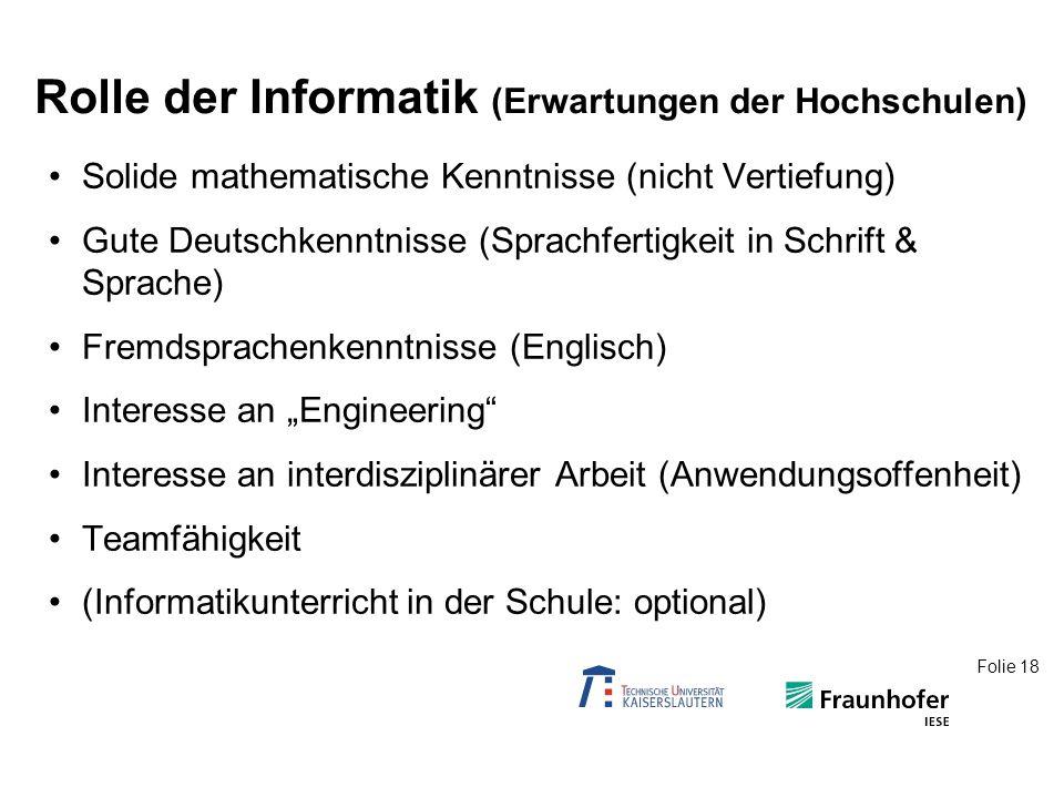Rolle der Informatik (an Schulen)