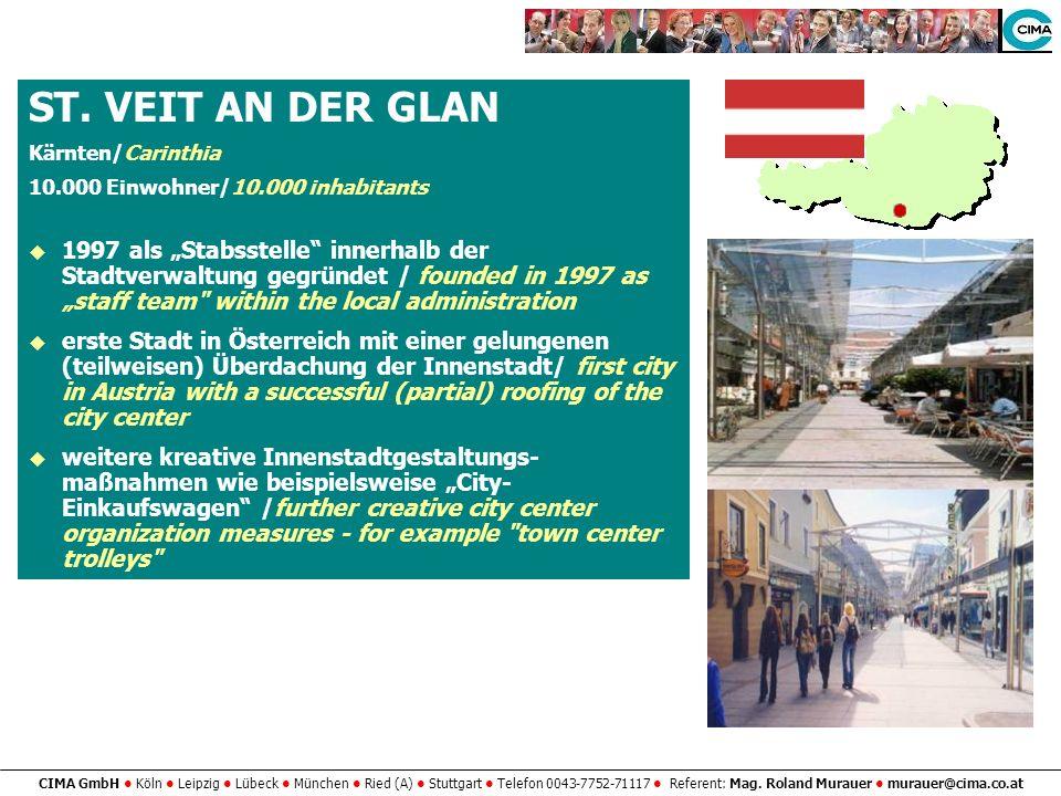 ST. VEIT AN DER GLANKärnten/Carinthia. 10.000 Einwohner/10.000 inhabitants.