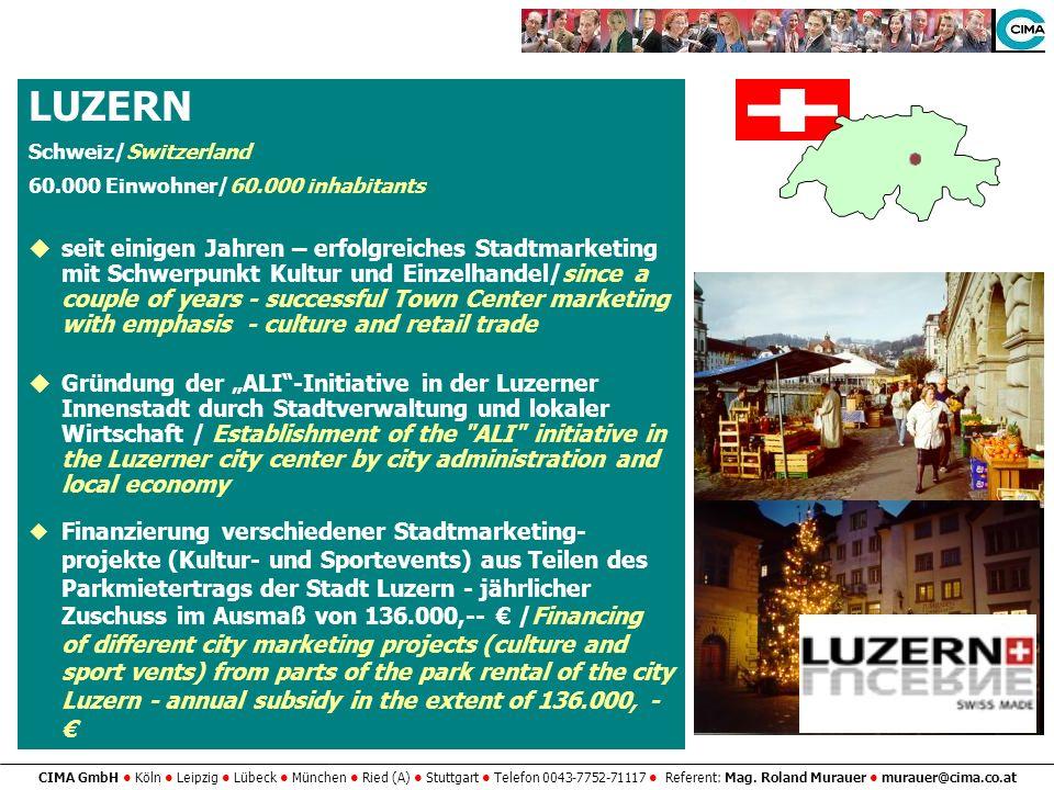 LUZERN Schweiz/Switzerland. 60.000 Einwohner/60.000 inhabitants.