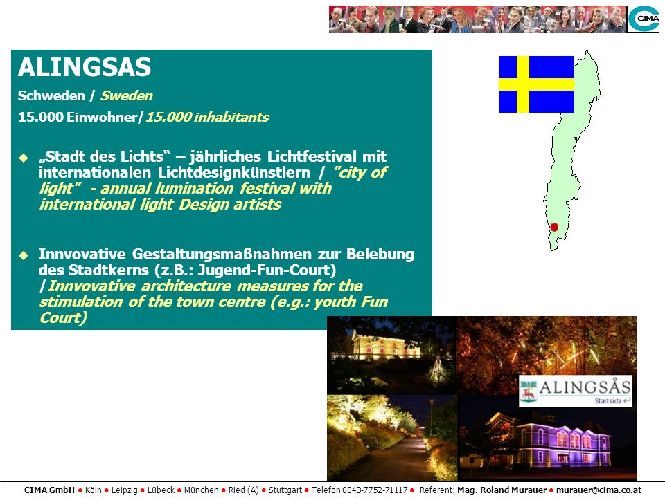 ALINGSAS Schweden / Sweden. 15.000 Einwohner/15.000 inhabitants.