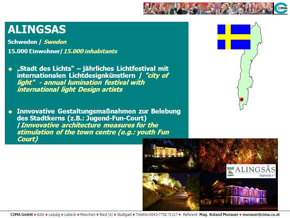 ALINGSASSchweden / Sweden. 15.000 Einwohner/15.000 inhabitants.