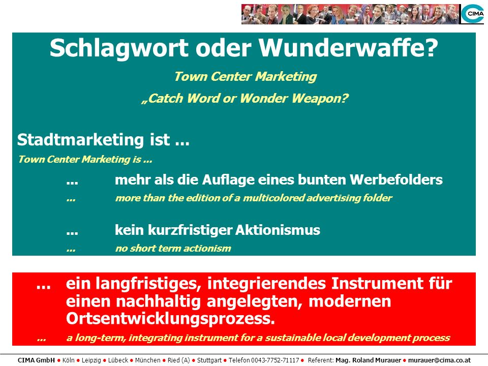 "Schlagwort oder Wunderwaffe ""Catch Word or Wonder Weapon"
