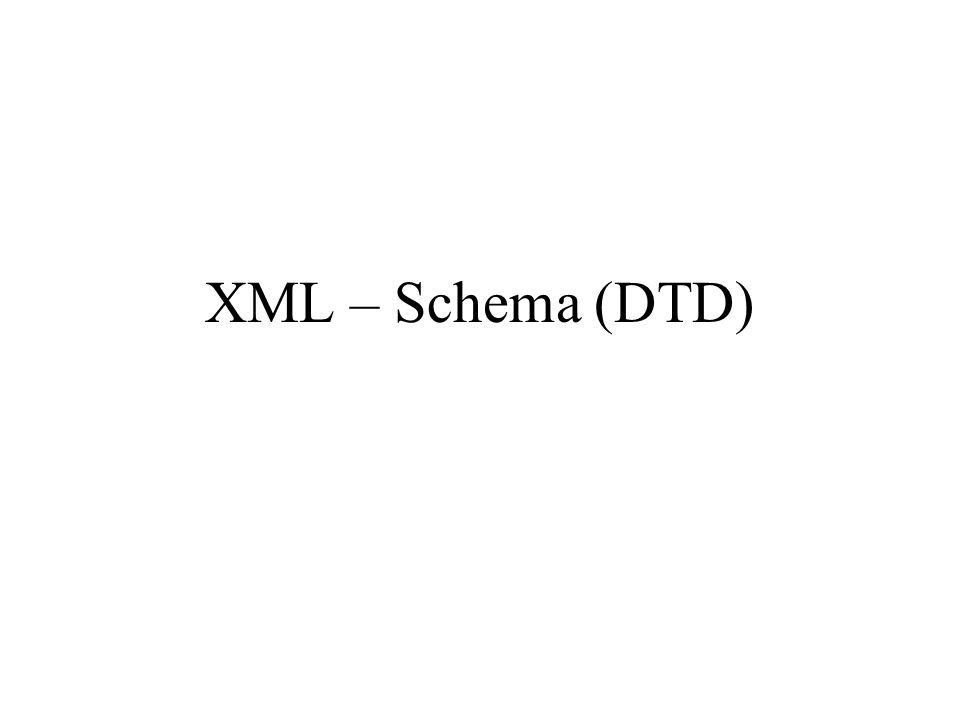 XML – Schema (DTD)