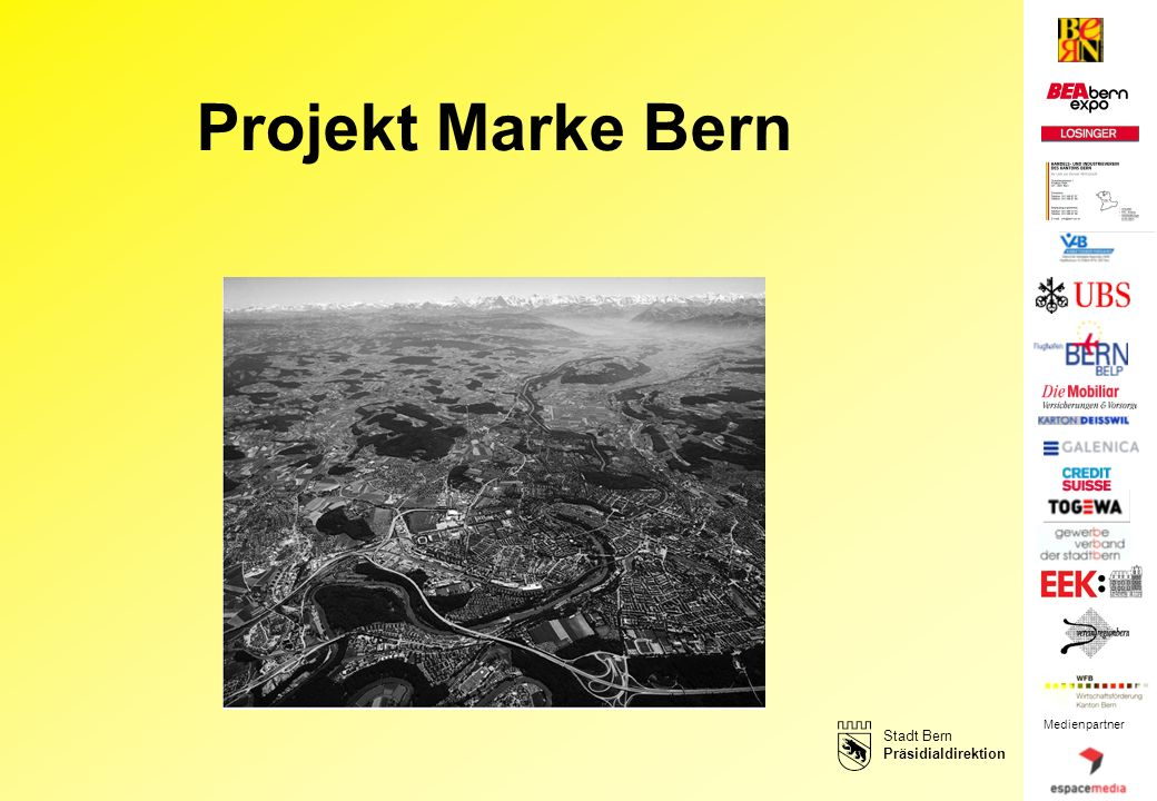 Medienpartner Projekt Marke Bern Stadt Bern Präsidialdirektion