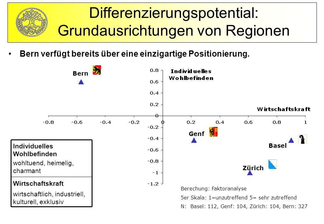 Differenzierungspotential: Grundausrichtungen von Regionen