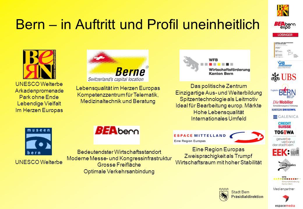 Bern – in Auftritt und Profil uneinheitlich