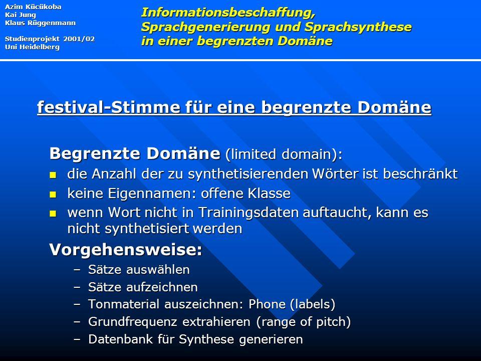 festival-Stimme für eine begrenzte Domäne