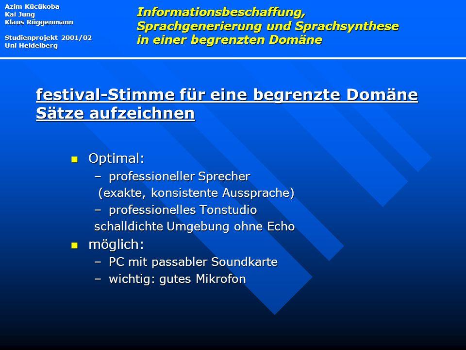 festival-Stimme für eine begrenzte Domäne Sätze aufzeichnen