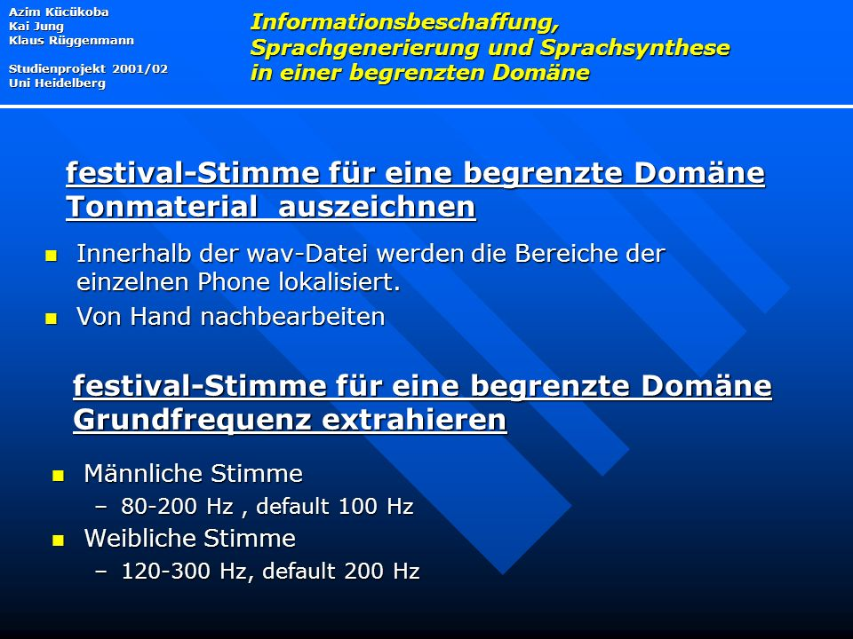 festival-Stimme für eine begrenzte Domäne Tonmaterial auszeichnen