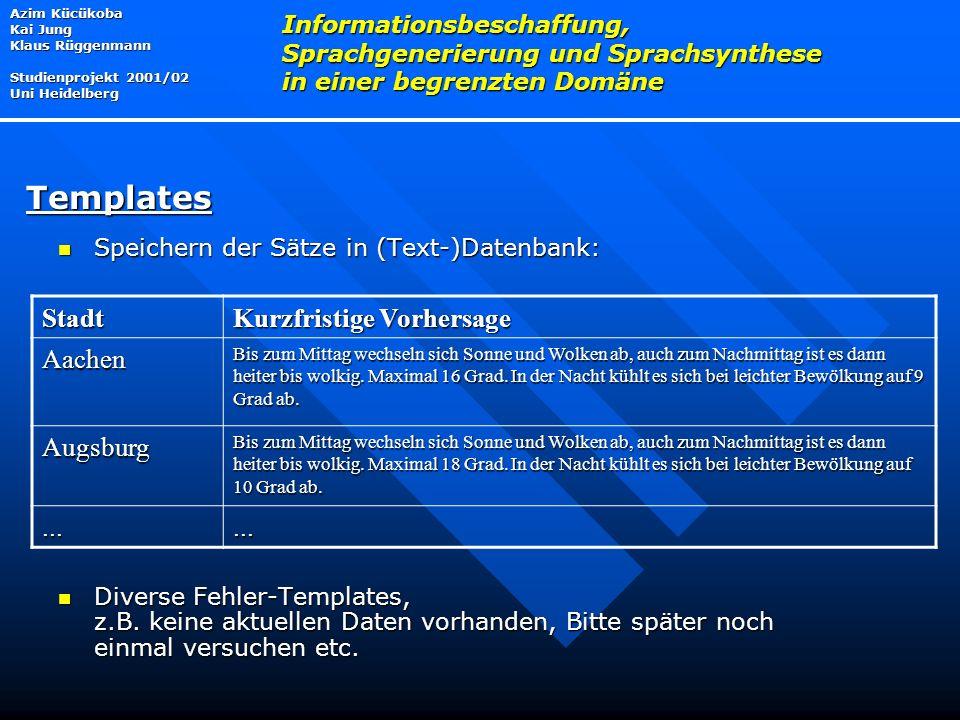 Templates Stadt Kurzfristige Vorhersage Aachen Augsburg ...