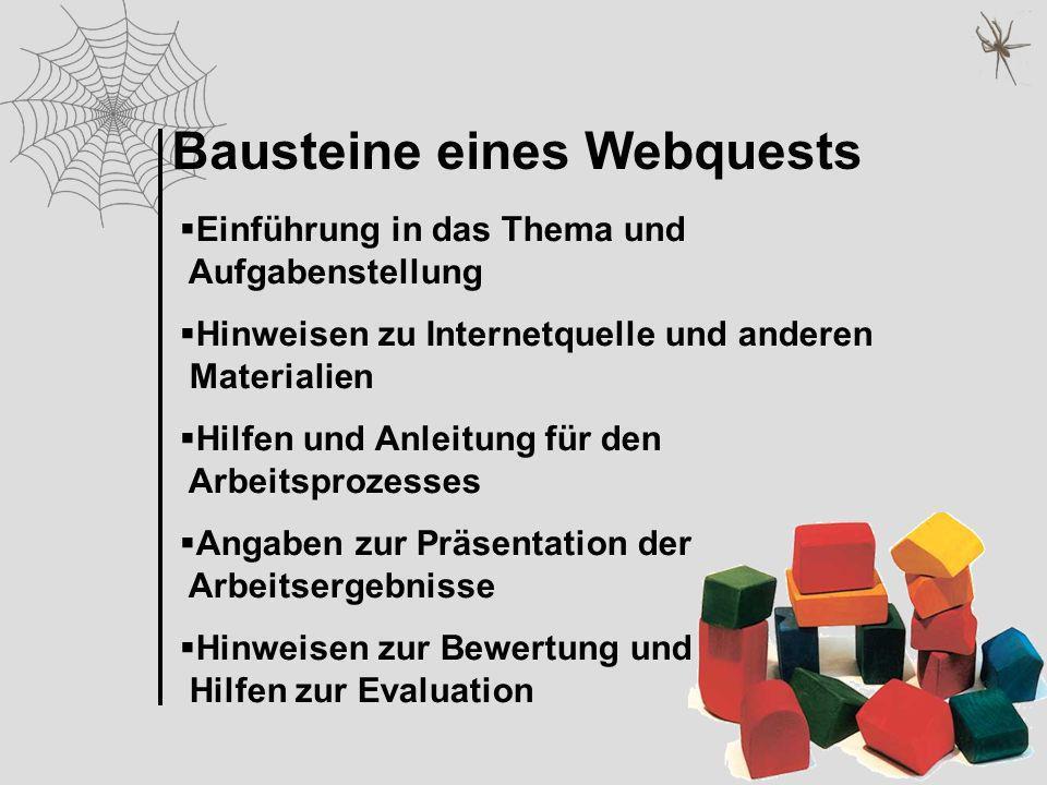 Bausteine eines Webquests