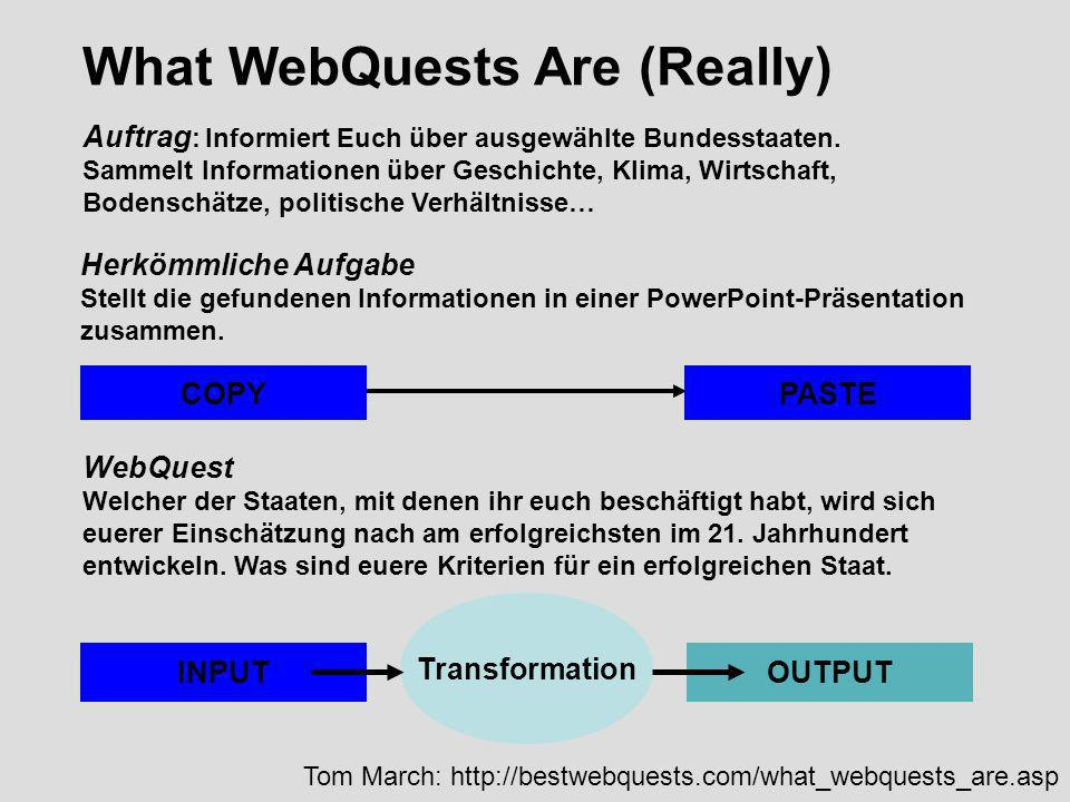 What WebQuests Are (Really)