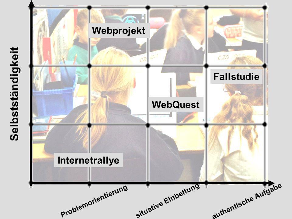 Selbstständigkeit Webprojekt Fallstudie WebQuest Internetrallye
