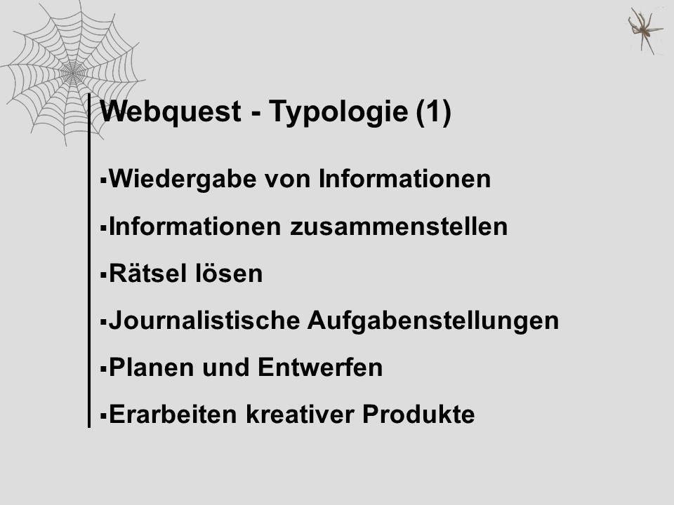 Webquest - Typologie (1)