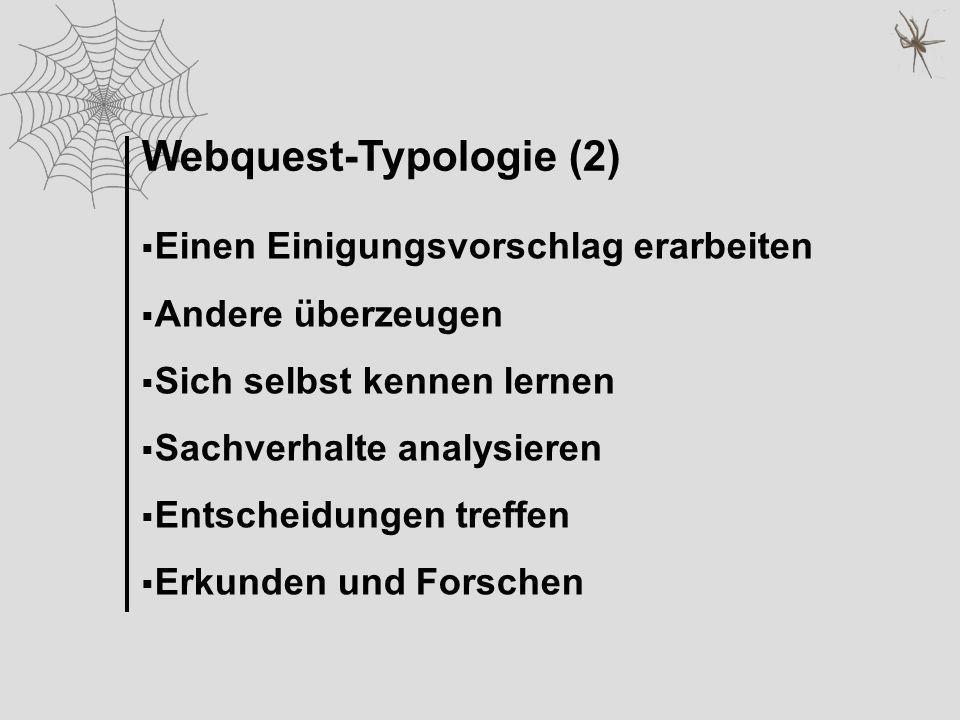 Webquest-Typologie (2)