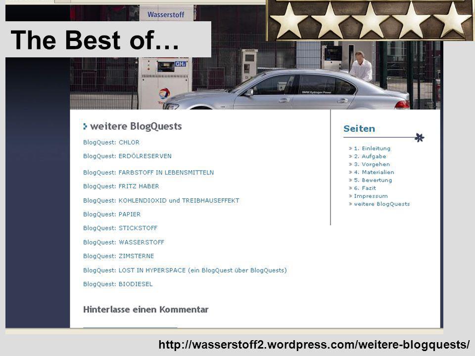 The Best of… http://wasserstoff2.wordpress.com/weitere-blogquests/