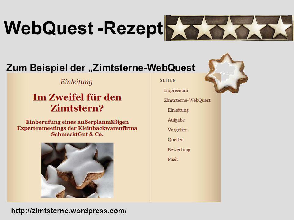 """WebQuest -Rezept Zum Beispiel der """"Zimtsterne-WebQuest"""