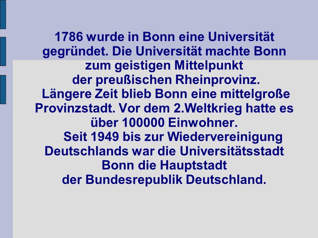 1786 wurde in Bonn eine Universität gegründet