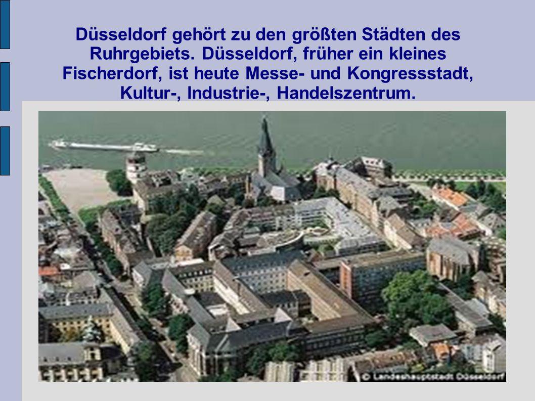 Düsseldorf gehört zu den größten Städten des Ruhrgebiets