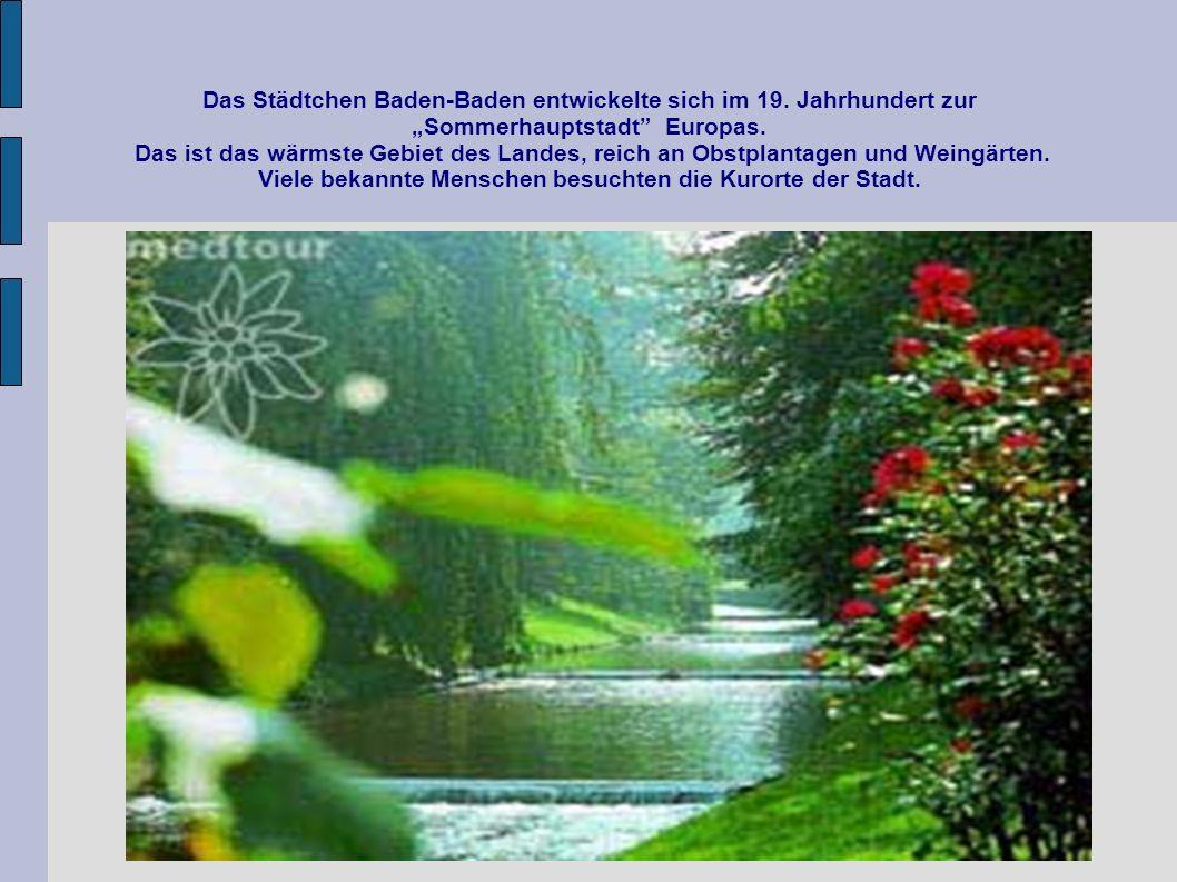 Das Städtchen Baden-Baden entwickelte sich im 19