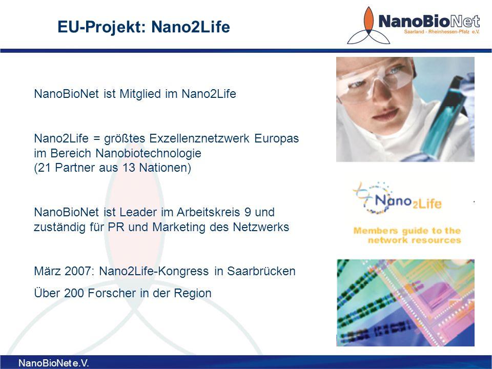 EU-Projekt: Nano2Life NanoBioNet ist Mitglied im Nano2Life