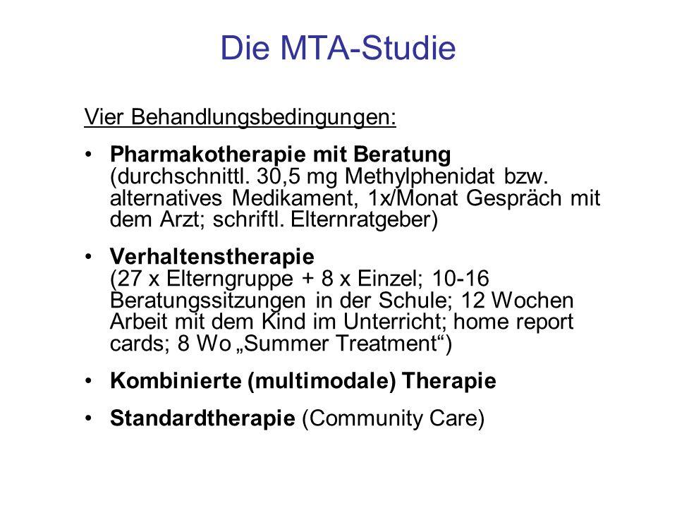Die MTA-Studie Vier Behandlungsbedingungen: