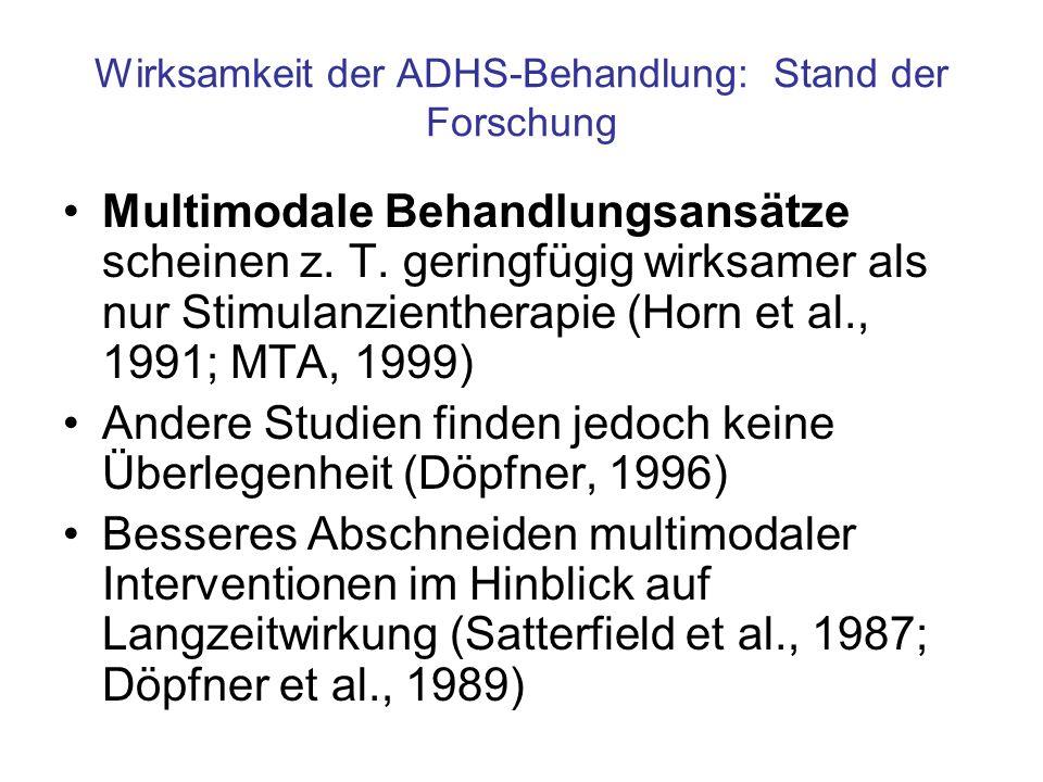 Wirksamkeit der ADHS-Behandlung: Stand der Forschung