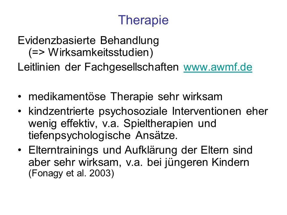 Therapie Evidenzbasierte Behandlung (=> Wirksamkeitsstudien)