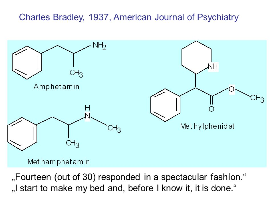 Charles Bradley, 1937, American Journal of Psychiatry