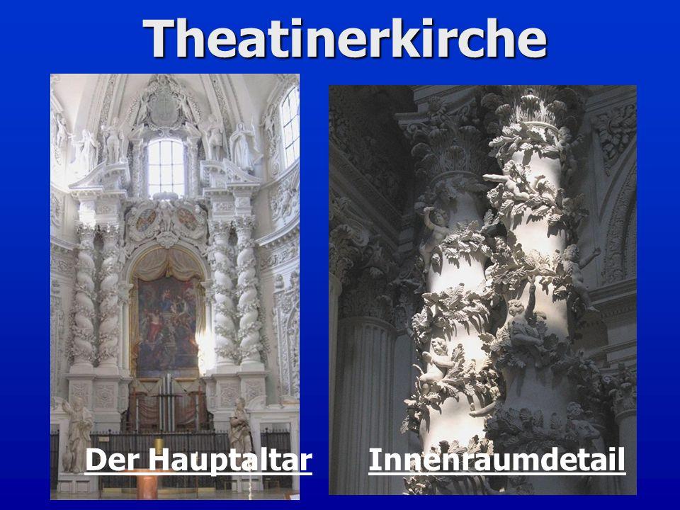 Theatinerkirche Der Hauptaltar Innenraumdetail