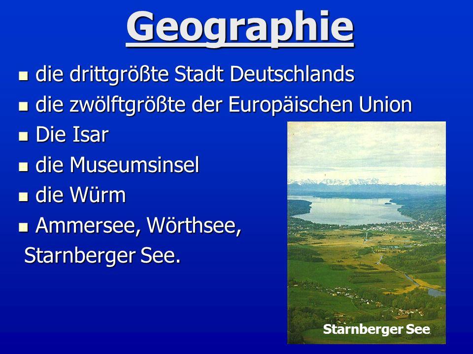 Geographie die drittgrößte Stadt Deutschlands