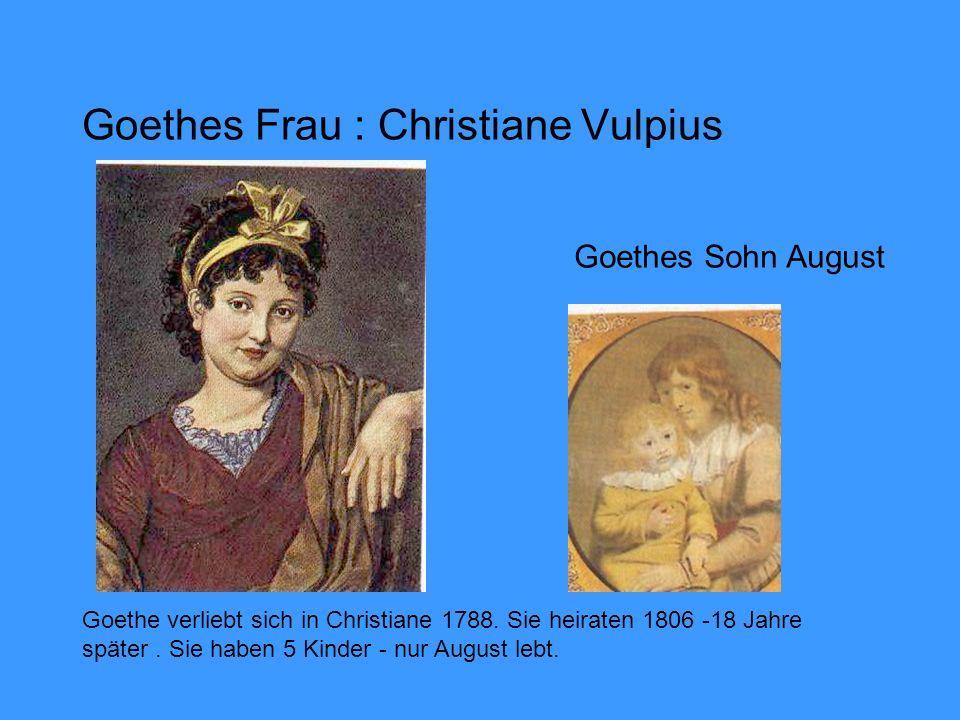 Goethes Frau : Christiane Vulpius