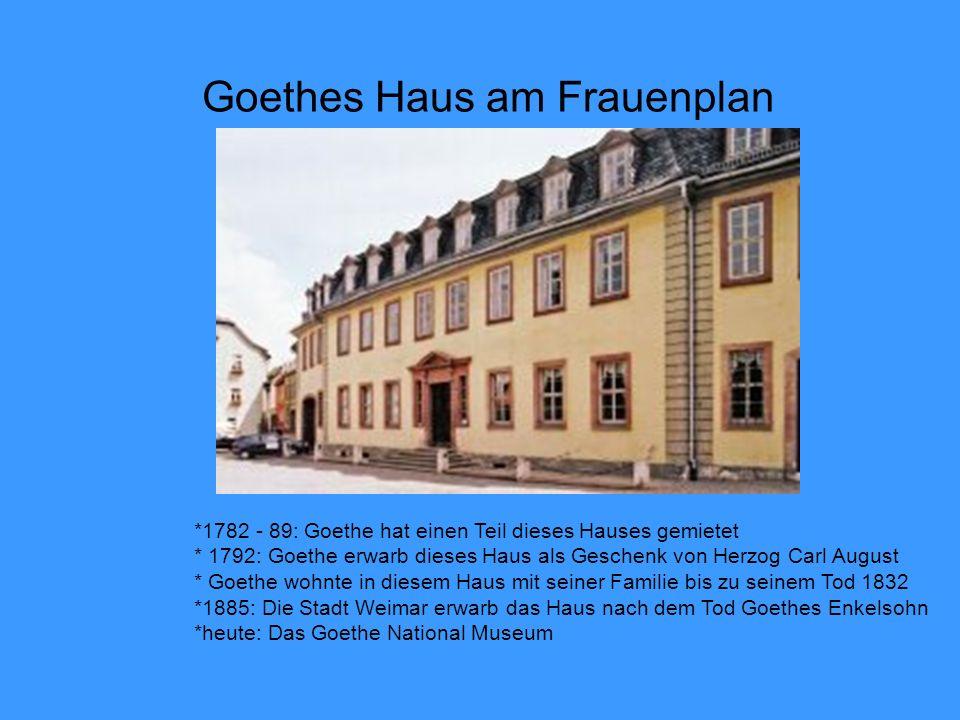 Goethes Haus am Frauenplan