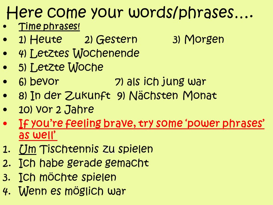 Here come your words/phrases….