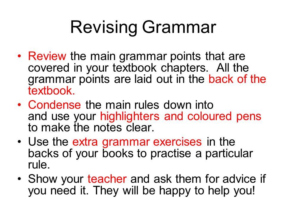 Revising Grammar