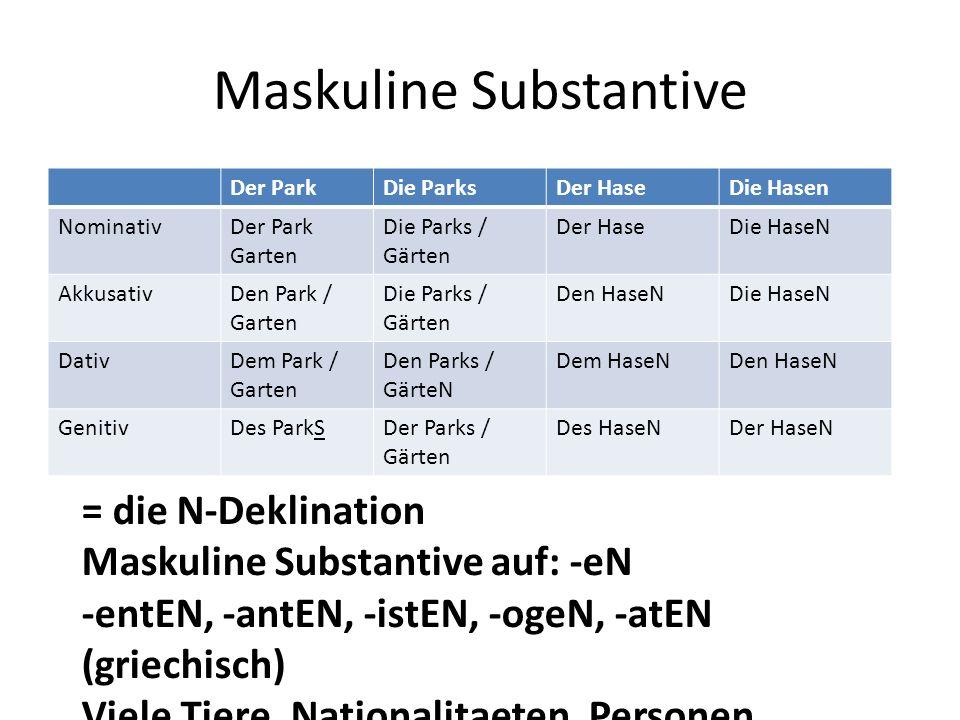 Maskuline Substantive