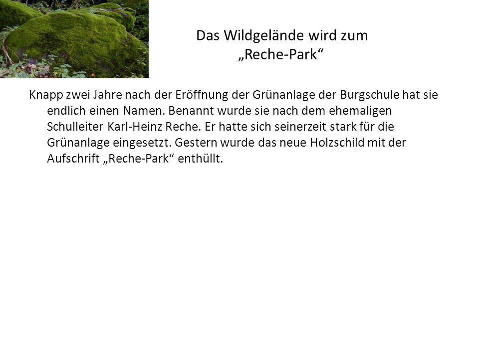 """Das Wildgelände wird zum """"Reche-Park"""