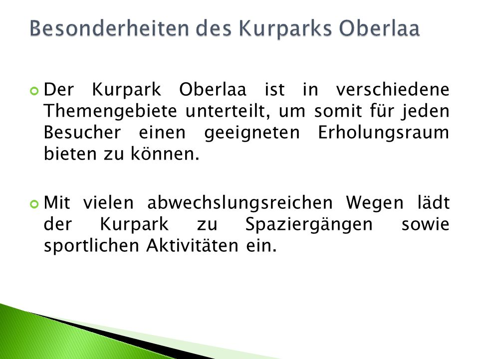 Besonderheiten des Kurparks Oberlaa